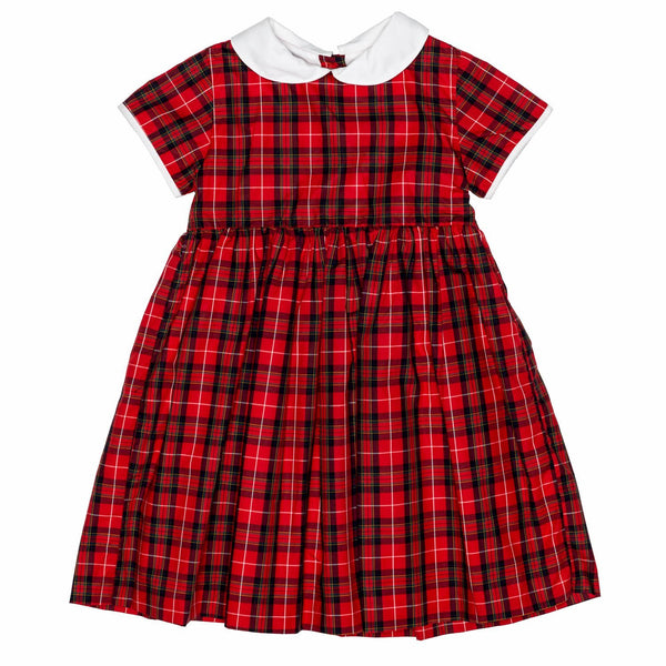 Red Plaid Classic Dress w/Collar