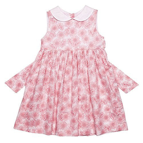 Rosewater Floral Classic Dress w/White Collar