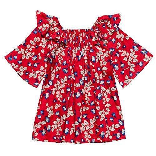 Rouge Floral Smocked Tunic Dress