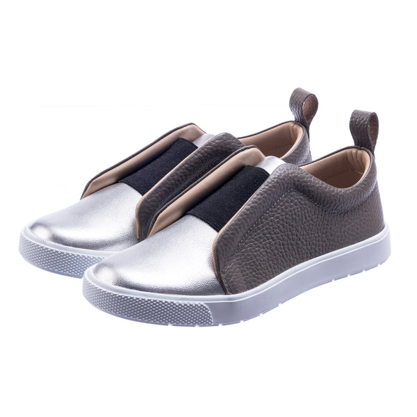 Indie Slip-on Metallic Silver
