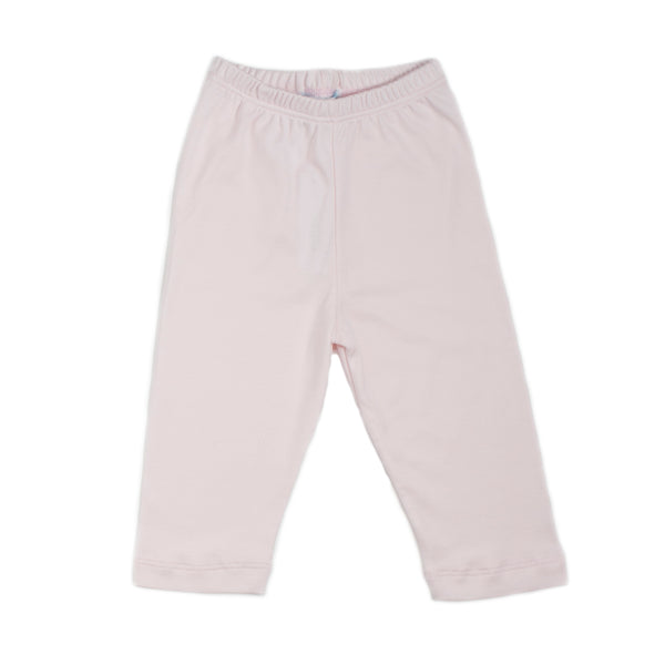 Pink Pima Cotton Baby Pull-on pants
