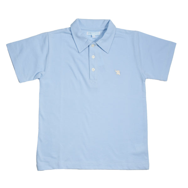 Light Blue Pique Polo