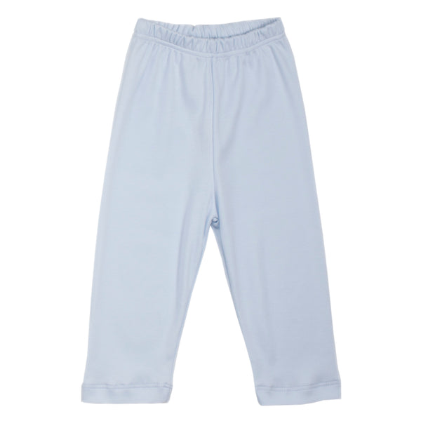 Light Blue Pima Cotton Pull-on pants