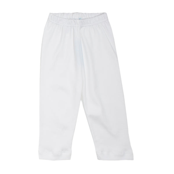 White Pima Cotton Baby Pull-on pants