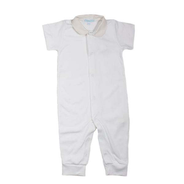 White/Ivory Pima Cotton Coverall