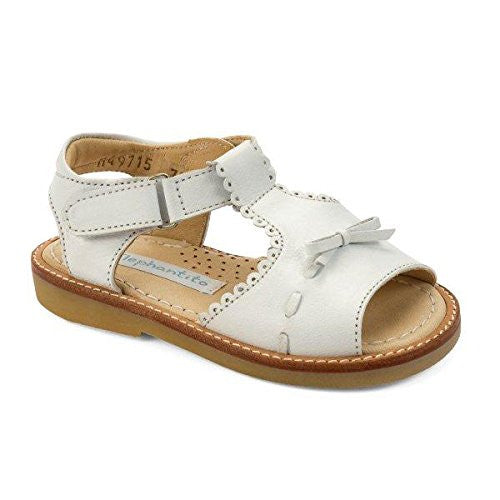 Sandal with Bow White