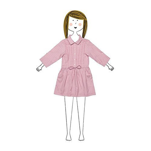 Shirt Dress with Pleated Top Mauve