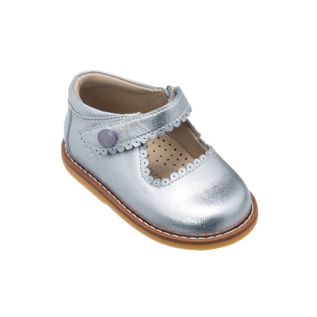 Mary Jane Toddler Silver