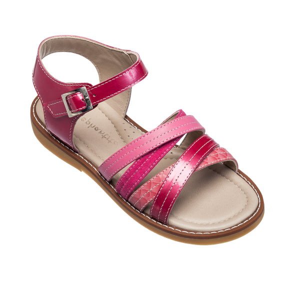 Crossed Sandal Toddler Hot Pink