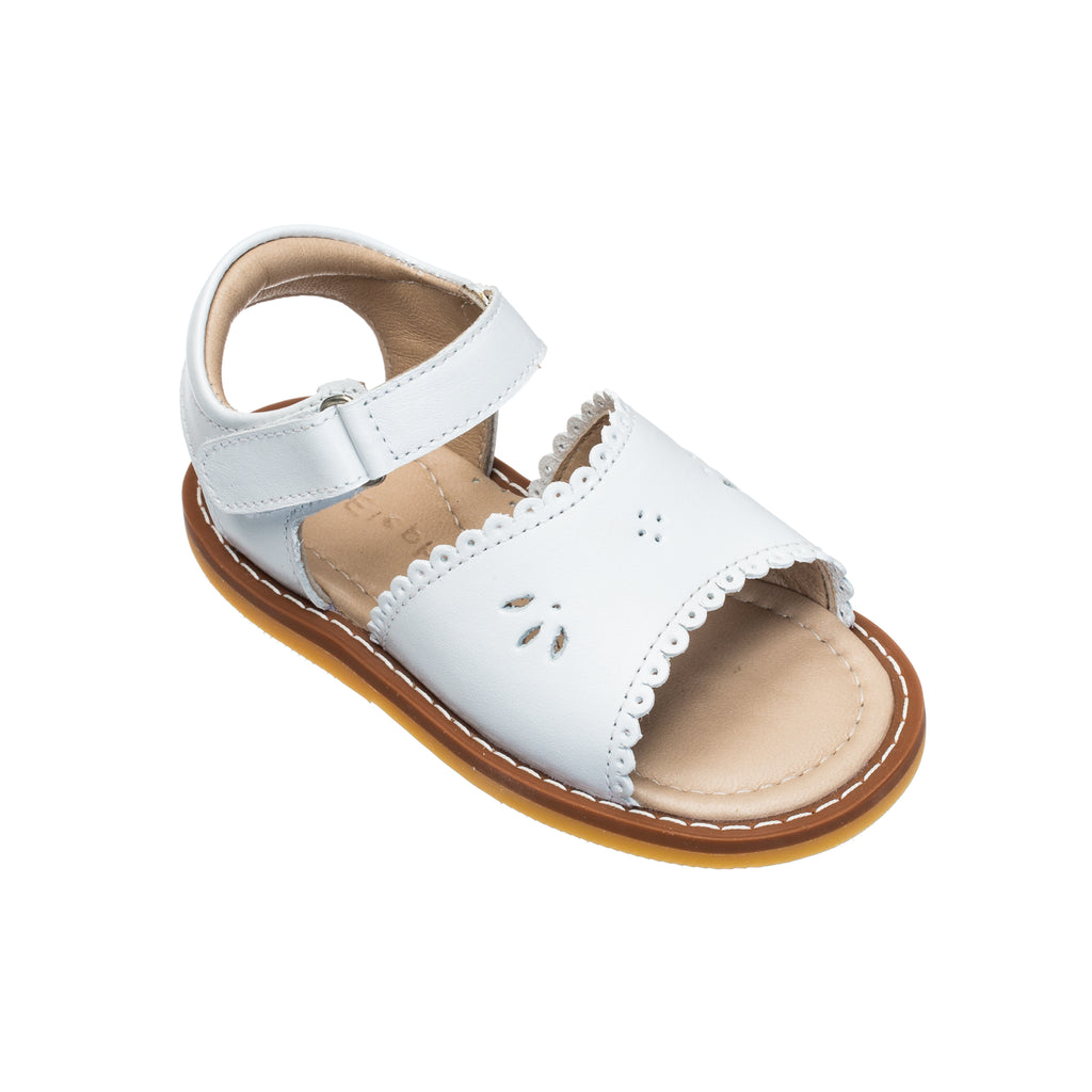 Classic Sandal with Scallop Toddler White