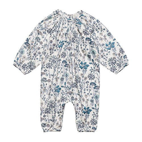 Teal Floral Baby Jumpsuit