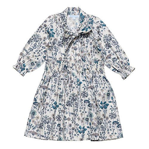 Teal Floral Shirt Dress wSmock