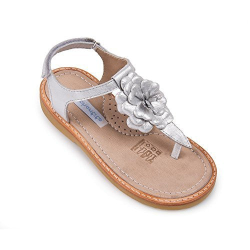 Thong Sandal with Flor Silver