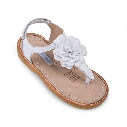 Thong Sandal with Flor White