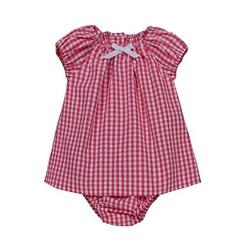 Vichy Peasant Baby Dress