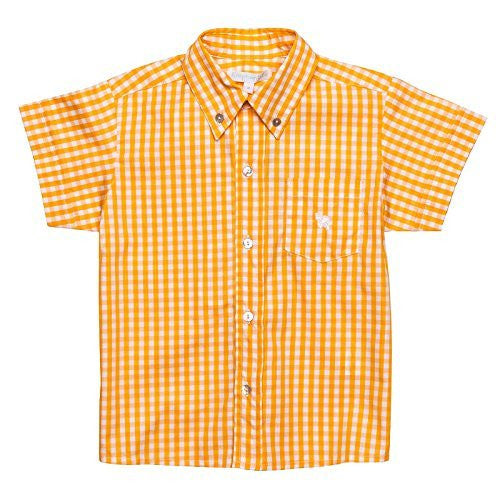 Vichy Yellow Short Sleeves Shirt
