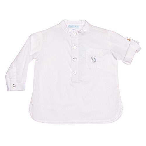 White Mao Collar Shirt