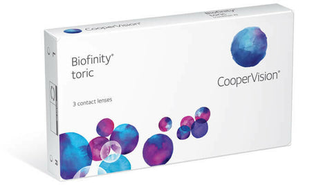 Cooper Vision Bioinfinity Torics 3 months Supply, 3 contact lenses $70.00