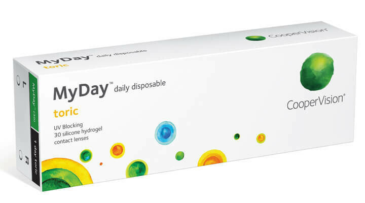 Cooper Vision My Day Torics 30 Contact lenses  1 months Supply $58.00