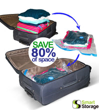 Load image into Gallery viewer, 16 PC Space Saver Vacuum Bags Set + Travel Pump by Smart Storage - Smart Storage