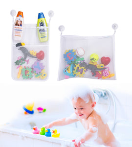 Bath Organizer Mesh Shower Caddy & Toy Holder Set by Boxiki Kids - Boxiki kids