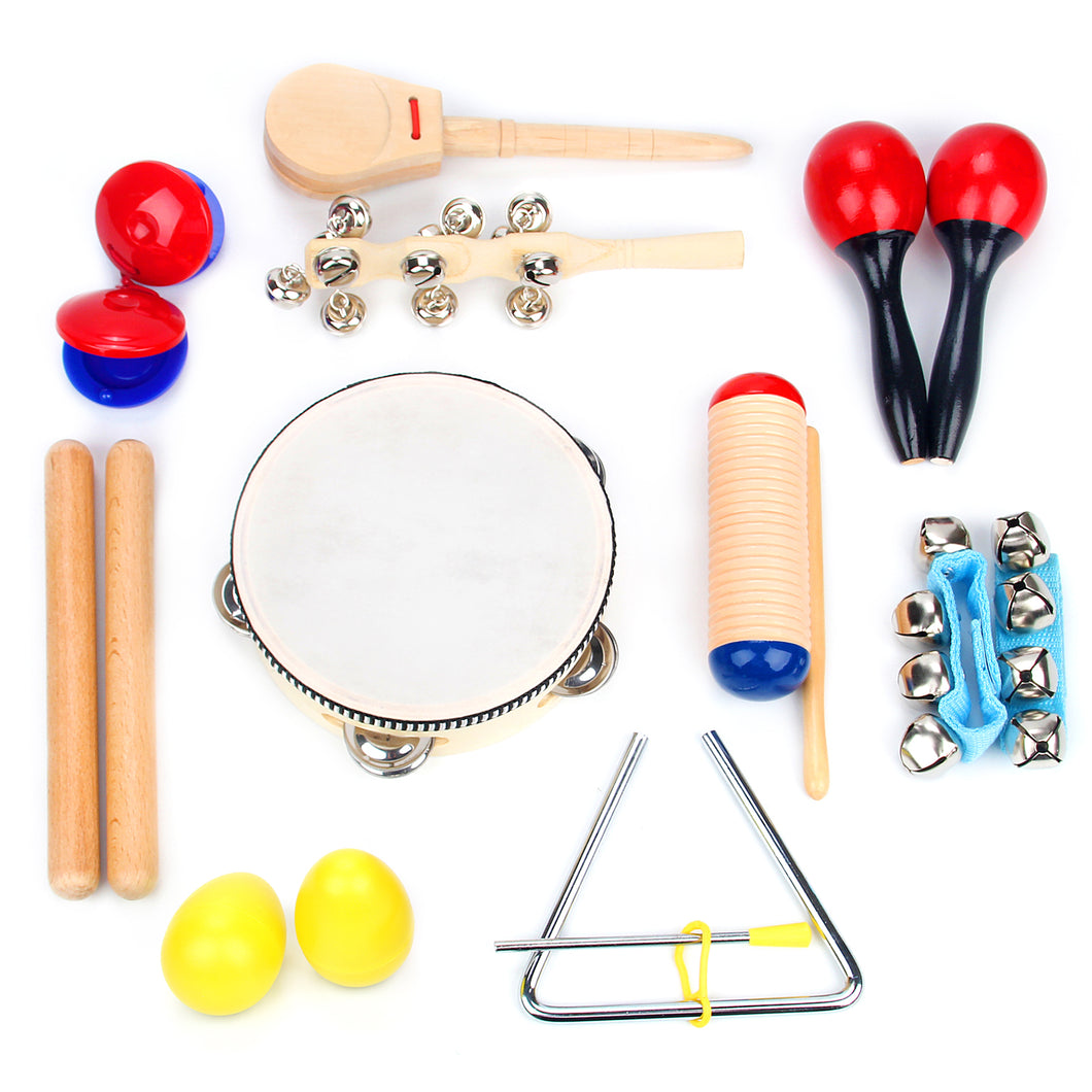 16 PC Musical Instrument Set Educational Toys by Boxiki Kids - Boxiki kids