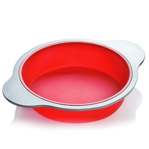 9-inch Silicone Round Cake Pan  by Boxiki Kitchen - Boxiki Kitchen