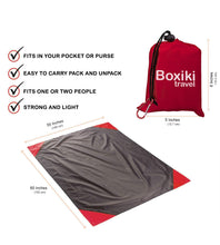 Load image into Gallery viewer, Compact Waterproof Pocket Beach Blanket by Boxiki Travel - Boxiki Travel