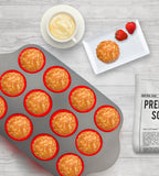 Premium Non-Stick 12-Cup Silicone Liners Muffin Pan by Boxiki Kitchen - Boxiki Kitchen