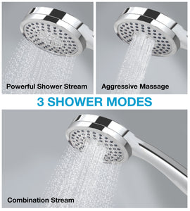3 Stream Settings Easy-Install Luxury Rainfall Shower Head by Astorn - Astorn