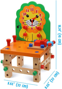 Wooden Chair (Orange Lion)