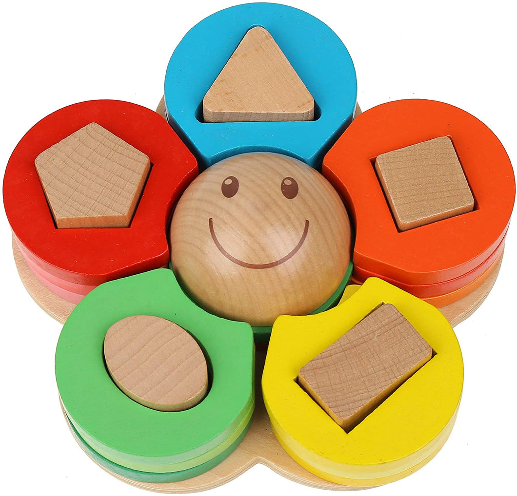 Wooden Flower Stacking Toy