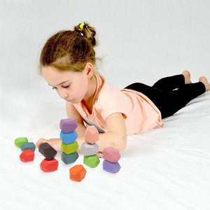 24 PCS Creative Wooden Stacking Stones