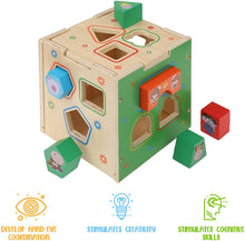 Load image into Gallery viewer, Wooden Activity Cube