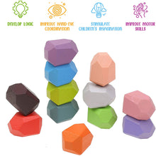 Load image into Gallery viewer, 24 PCS Creative Wooden Stacking Stones