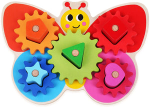 Wooden Butterfly Gear Game