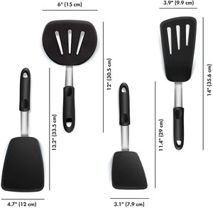 4 PCS Stainless Steel Spatulas
