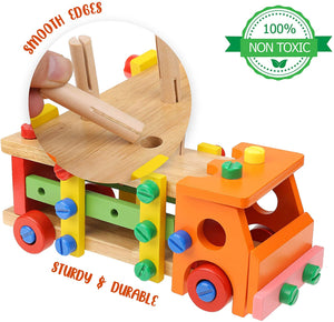 Wooden Tool Truck Set (Orange)