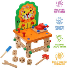 Load image into Gallery viewer, Wooden Chair (Orange Lion)