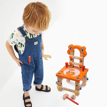 Load image into Gallery viewer, Wooden Chair (Orange Frog)