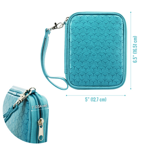 Travel Passport Wallet (Sky Blue) - Boxiki Travel