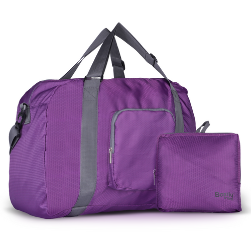 Foldable Travel Duffel Bag - Purple - Boxiki Travel