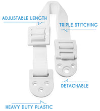 Load image into Gallery viewer, 8 PC Adjustable Anti-Tip Furniture Anchor Safety Straps by Boxiki Kids - Boxiki kids