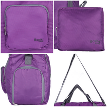 Load image into Gallery viewer, Foldable Travel Duffel Bag - Purple - Boxiki Travel