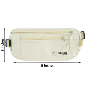 RFID Travel Money Belt Anti-Theft Unisex (Beige) by Boxiki Travel - Boxiki Travel