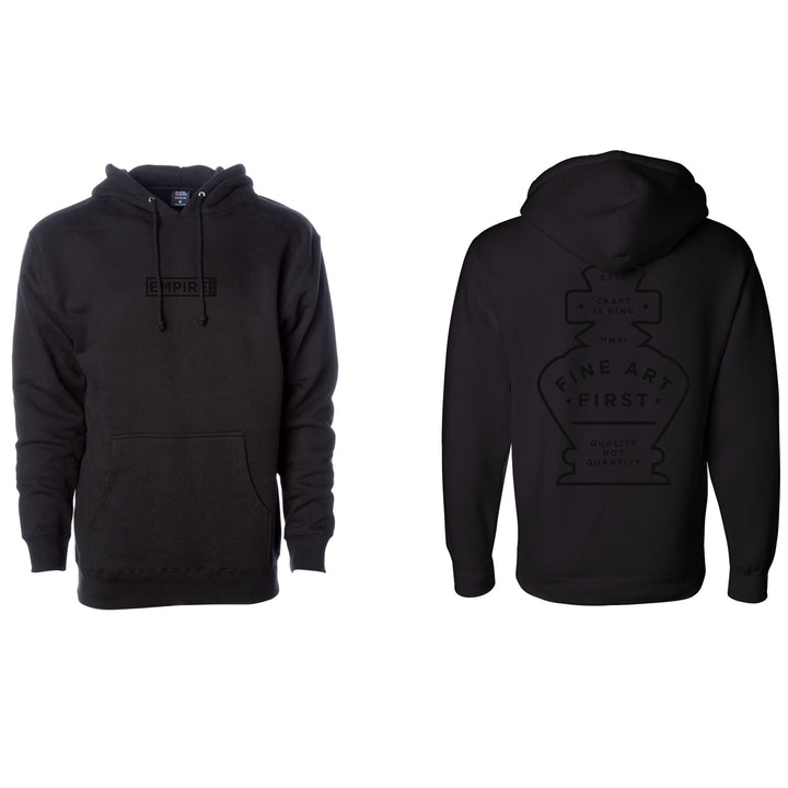 Black on Black Hooded Sweatshirt