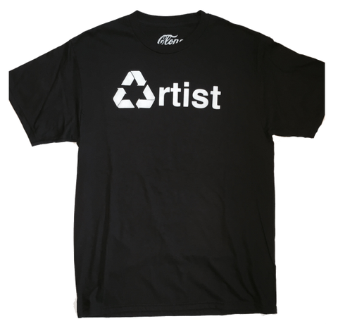 RECYCLED ARTIST T-Shirt in Black