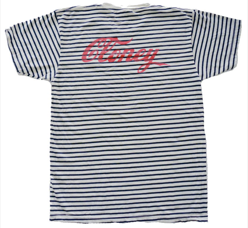 Middle Finger Shirt in Black / White Stripe