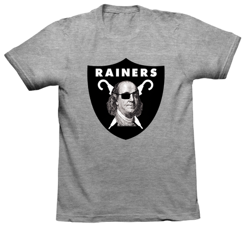 RAINERS / THE NAKED SHALL MAKE IT T-Shirt in Gray
