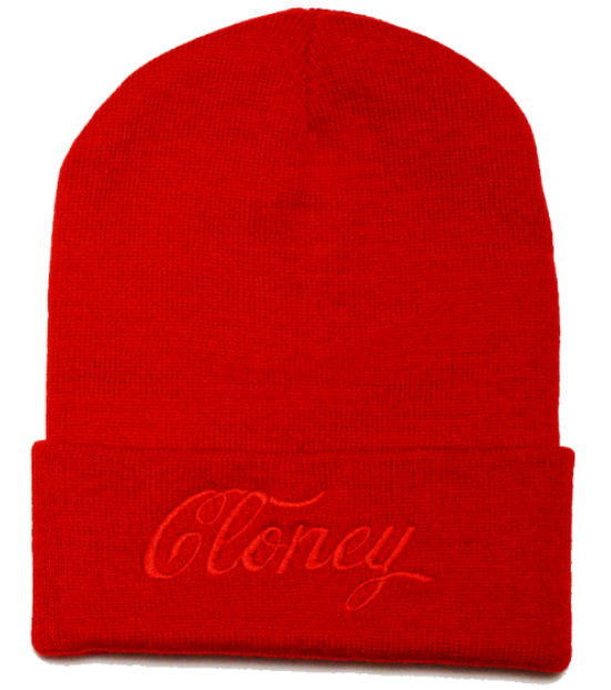 Middle Finger Beanie in Red